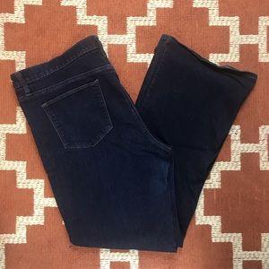 Gap 35 regular perfect boot dark wash jeans